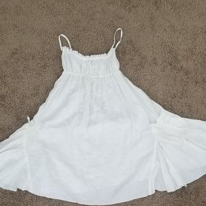 White linen sundress